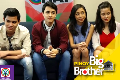 PBB Lucky Season 7 Big 4 Maymay, Kisses, Yong & Edward ask each other #NoFilter questions